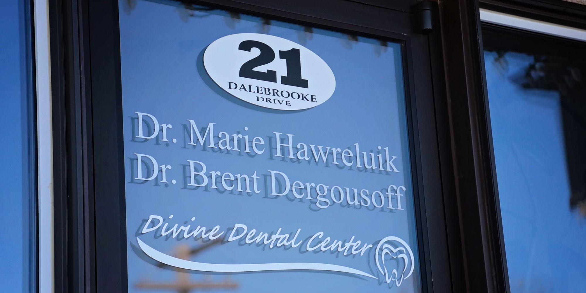 Divine Dental Center Front Window